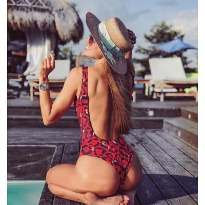 Слитный купальник с открытой спинкой 2019 1043