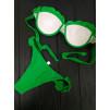 Шикарный купальник в ярко-зелёном цвете 1025