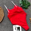 Модный слитный купальник с декором 1082
