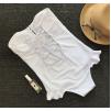 Слитный белоснежный купальник с декором 1019
