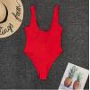 Красный классический слитный купальник 2020 1157