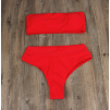 Красный купальник с завышенной талией 2020 1176