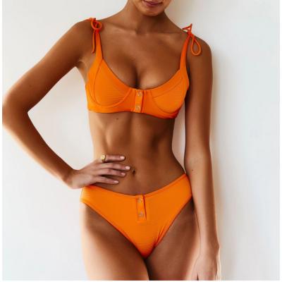 Яркое Бикини в оранжевом цвете 2020 1188