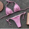 Розовый люрексовый купальник 1202