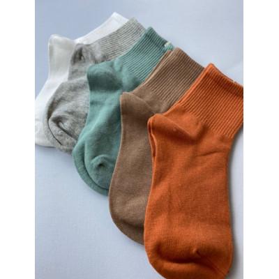 Коттоновые однотонные носки 1209