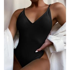 Прелестный черный купальник в бразильськом стиле
