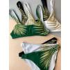 Роскошный купальник топом в зелёном цвете 1159