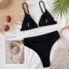 Шикарный черный завышенный купальник  1206