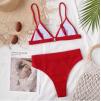 Красный завышенный купальник 1206