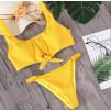 Солнечный трикотажный купальник с кнопками на бюсте 1004