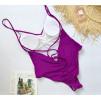 Фиолетовый купальник в бразильськом стиле 2019 1053